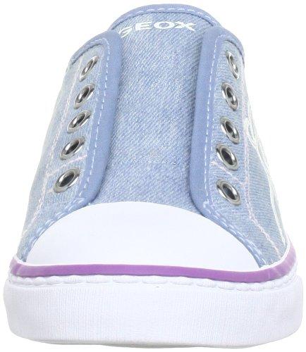 Geox  J CIAK GIRL W, Low-top fille Bleu - Blau (LT JEANS C4051)