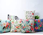 AEROHAVEN Cotton Decorative Throw Pillow/Cushion Covers (16 x 16 Inches, Multicolour) - Set of 5