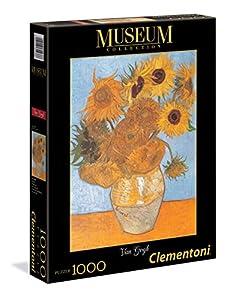 Clementoni-Les Tournesols Los Pingüinos De Madagascar Puzzle Museum Van Gogh 1000 pzas, Multicolor, 12+ (314386)