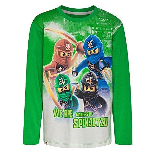 LEGO Wear Jungen Lego Ninjago M-72641-Langarmshirt, Mehrfarbig (Green 867), ()