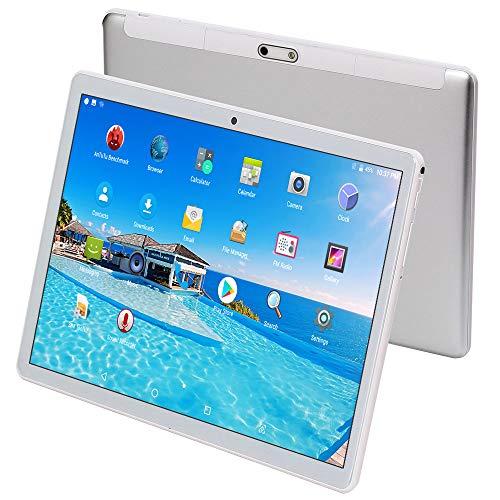 "Tablet mit SIM-Kartensteckplatz entriegelt 10 Zoll(10.1\""),4GB RAM,64GB Speicher,4G Dual-SIM,Android 7.0,1920x1200 HD IPS,Octa Core CPU,WiFi/WLAN/Bluetooth,USB-Silber"