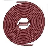 LACCICO Schnürsenkel ROSTROT | rund reißfest gewachst | 45-150 cm & Ø 2,5 mm; Farbe:Rostrot, Länge:150 cm