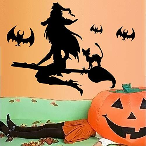 (YUXAN Wandaufkleber Halloween-Hexenbesen Raumdekoration der kreativen Kinder kreative)
