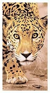 Tapis de bain, serviette de plage, paréo de sauna-motif léopard-motif léopard-motif empreintes de pattes imprimé léopard-beau - 100% coton-dimensions: env. xL 150 x 75 cm-neuf