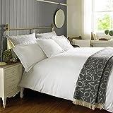 Emma Bridgewater bestickt weiß Doppel, 200TC 100% Baumwolle Bettbezug