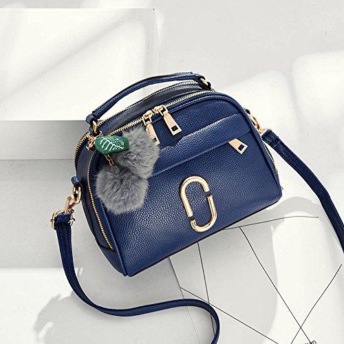 Pacchetto LiZhen femmina coreano nuovi eleganti camere singole borse tracolla minimalista, algebra lineare pacchetti hanno bisogno di selvatica piccola borsa borse donna, Nero