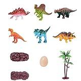 Mini Dinosaur Model Toys Mini Dinosaur Set di giochi Assortiti Realistico piccolo Dinosaur Figure Model Toy for Kids Toddlers Colorful One Set di 6Pcs