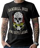 NG articlezz Herren T-Shirt Handball & Bier Fanshirt WM 2019 Deutschland Germany