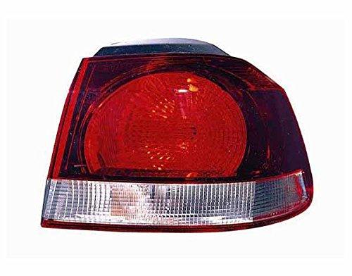 Vw26315d - faro-fanale posteriore esterno destro modello hella rosso scuro