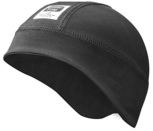 Walser Skihelm Untermütze Fleece Mütze, Schwarz, Größe 52-57 (Carbon Bell Helm)