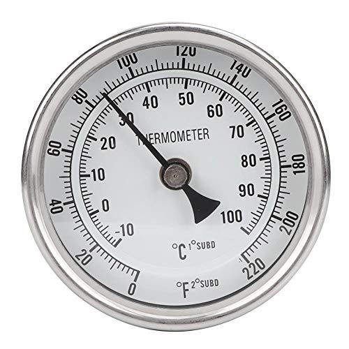 Brew Thermometer, MAGT 1/2 NPT-Edelstahl-Topf Thermometer Metall Dial Thermometer for Bierbrauen Startseite Brewing Weinherstellung
