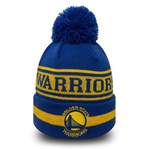 the best attitude a68ec 4698e Mitchell   Ness - Bonnet NBA Golden State Warriors New Era Team Jake avec  pompon bleu