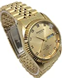 Swanson Japan Watch Men Gold Tone Date,day Water Resistant