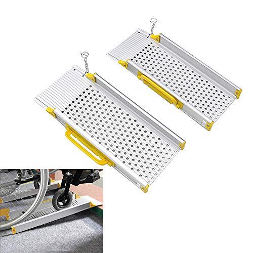 SUN RDPP Rollstuhlrampen Tragbare Tragbare Rollstuhlrampe Aus Aluminium, Rollstuhlschwellenrampe Für Haustreppen, DREI Größen,60x19cm