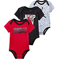 Jordan Jumpman 3 Pack Bodies para bebé, 3-6 Meses, Black/Red
