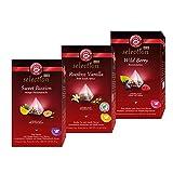 Teekanne Luxury Cup Früchtetee-Set - 3 verschiedene Teesorten im Pyramidenbeutel