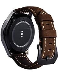 Gear S3 Armband, MroTech 22mm Uhrenarmband mit Schnalle Uhrenband Ersatz Band für Samsung Gear S3 Frontier Classic Moto 360 2nd Gen 46mm Version Pebble Time Steel Smartwatch Uhrband