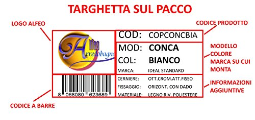Zoom IMG-3 copriwater per ideal standard conca