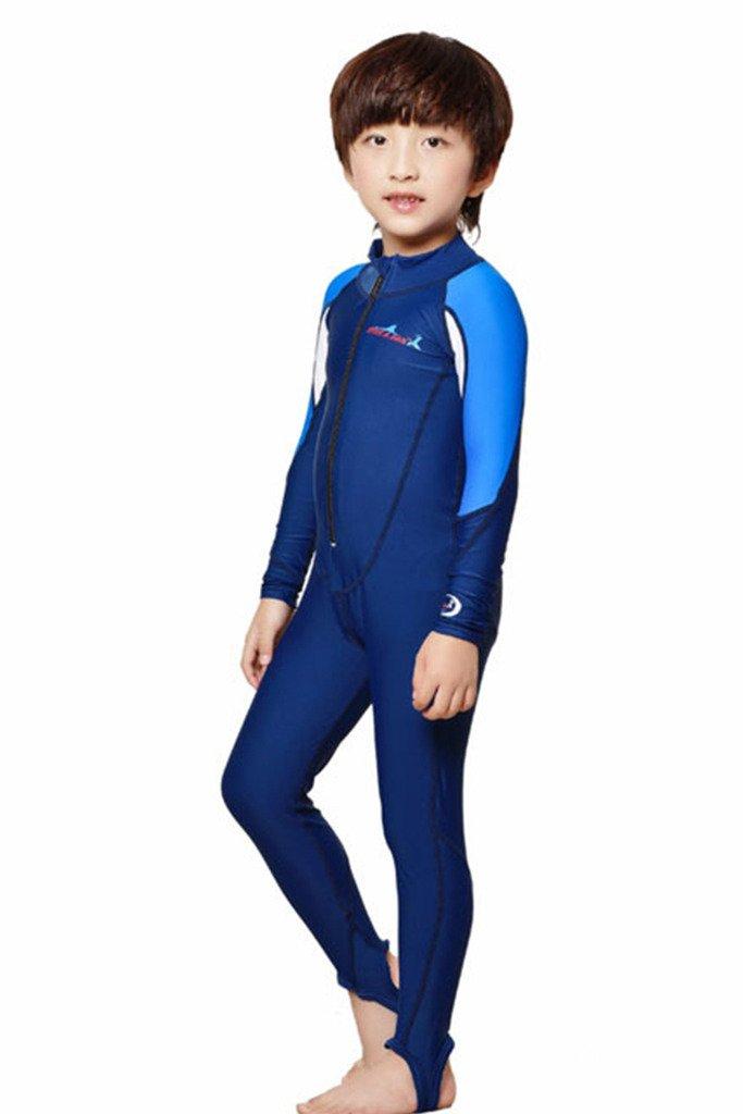 Ragazzi a maniche lunghe un pezzo swimsuit UPF 50+, Rosa per Bambini Full Length, Bambino, Bluewhi