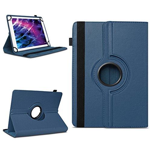 Tablet Schutzhülle für Medion Lifetab P10606 P10602 X10605 X10607 X10311 P9702 X10302 P10400 P10506 P10505 aus Kunstleder Hülle Tasche Standfunktion 360° Drehbar Cover Case Universal , Farben:Blau