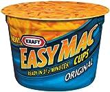 Kraft Easy Mac Macaroni & Cheese, Micro Cups, 2.05oz, 10/Carton
