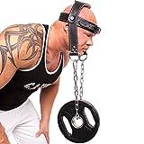 C.P. Sports - Supporto per testa e collo per sollevamento pesi/allenamento, imbottitura in pelle, (nero), Taglia unica