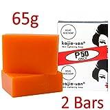 YouLookLight Kojie San - Lote de 2 pastillas de jabón aclarante para la piel, con ácido kójico