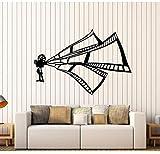 ZOUYUN Wandaufkleber Retro Vinyl Wandtattoo Produzent Film Kino Theater Filmstreifen Aufkleber Wohnkultur Wohnzimmer Selbstklebende Kunst Aufkleber D368 84 * 57 cm