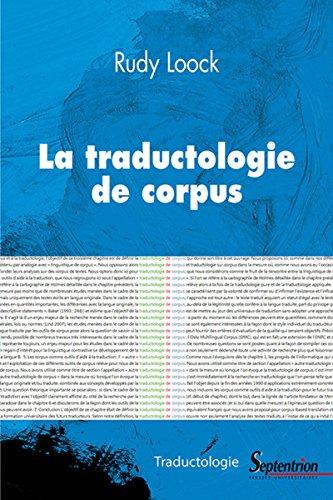 La traductologie de corpus par Rudy LOOCK