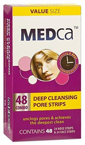 MEDca Tiefenreinigende Clear-Up Strips, Streifen für Nase und Gesicht, Kombi-Packung, Insgesamt 48 Streifen