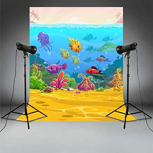 S`good Fotohintergrund,Unterwasserwelt Foto Kulissen Party Bilder Tauchen Urlaub Fotografie Hintergrund Unterwasser Photo Booth Tropical Fish @ 4X6Ft