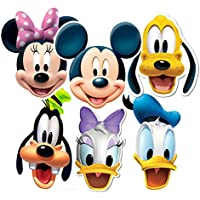 Star Cutouts SMP37 Mickey/Minnie/Donald/Pluto/Goofy/Daisy Friends Party Mask, One Size