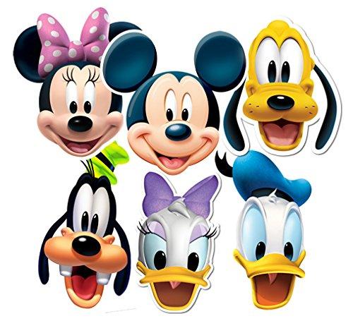 Star Cutouts–Stsmp37–6er-PackungMasken für Erwachsene–Motiv: Micky Maus und Freunde–Einheitsgröße