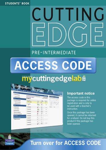 New Cutting Edge Pre-Intermediate Coursebook/CD-Rom/MyLab Access Card Pack (Cutting Edge Pre-intermediate)