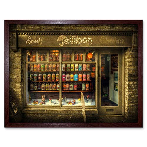 (Wee Blue Coo LTD Photography Composition Sweet Shop Front Confectionary Art Print Framed Poster Wall Decor Kunstdruck Poster Wand-Dekor-12X16 Zoll)