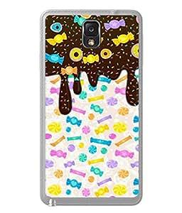 PrintVisa Designer Back Case Cover for Samsung Galaxy Note 3 :: Samsung Galaxy Note Iii :: Samsung Galaxy Note 3 N9002 :: Samsung Galaxy Note 3 N9000 N9005 (all kind of child loving cute eatables)