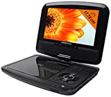 MEDION MD 84209 Portabler DVD Player 7 Zoll (17,78 cm) mit drehbarem Display, USB, DVB-T, 4in1 Kartenleser, Befestigungskit für Auto Kopfstütze und eingebautem Akku, schwarz