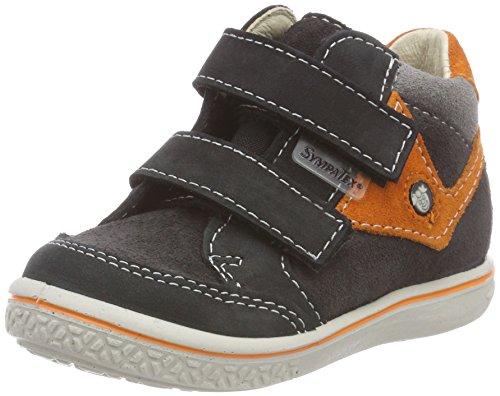 RICOSTA Jungen KIMO Hohe Sneaker, Grau (Asphalt/Orange 490), 26 EU