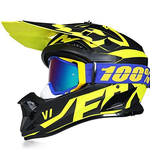 TKTTBD Casco Motocross Gafas Máscara Guantes Adultos