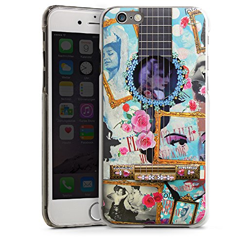Apple iPhone 4 Housse Étui Silicone Coque Protection Guitare Art Flamenco CasDur transparent