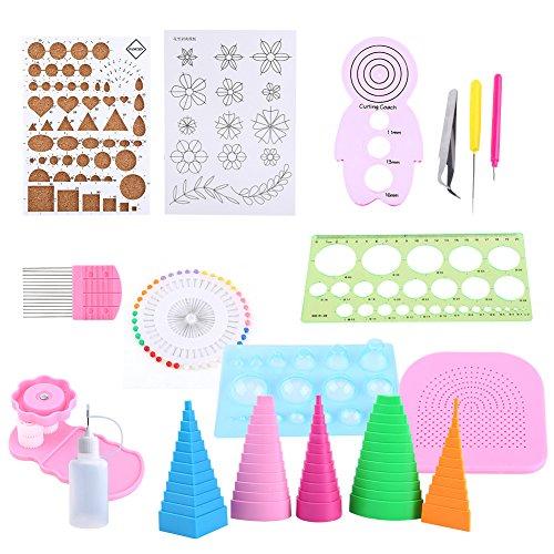 GLOGLOW 1Set Quilling Papier Rolling Kit, Home Office Dekoration Papier Crafts DIY Tools Papier Quilling Set Rost Proof All-in-One Quilling Kits -