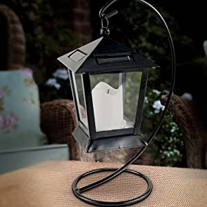 Cole & Bright Solar Table Lantern with Crook