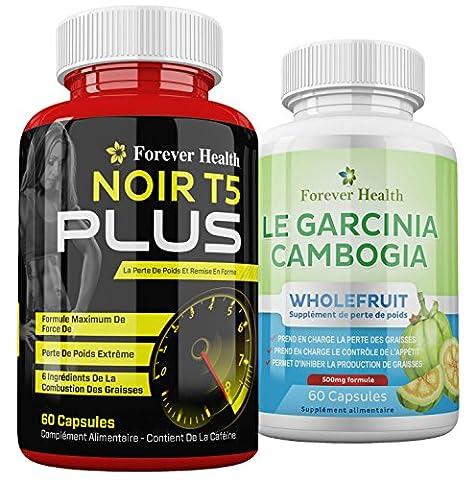 T5 Noir PLUS + PURE Garcinia Cambogia WHOLEFRUIT - Comprimé