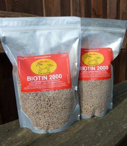 Horse-Direkt Biotin 2000 für Ihr Pferd 3,0 kg (2 x 1,5 kg Aromabeutel)