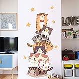 Wandaufkleber Schöne Kitty Tür Aufkleber Wohnzimmer Schlafzimmer warme Wandaufkleber