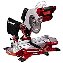 Einhell Cordless Mitre Saw TE-MS 18/210 Li-Solo Power X-Change (3000 rpm, Tiltable Saw Head, Workpiece Supports, Carbide-Tipped Precision Saw Blade, Cutting Line Laser & LED, without Battery/Charger)
