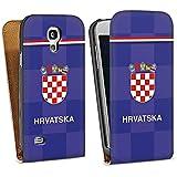 Samsung Galaxy S4 mini Tasche Schutz Hülle Walletcase Bookstyle Fußball Trikot Kroatien