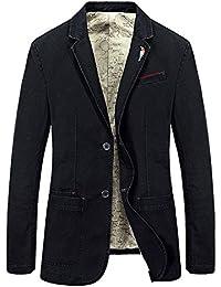 TAPOO Herren Sakko Blazer Jacke Slim Fit Freizeit Anzugjacke mit Brosche