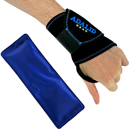 Kälte-therapie Pad (Handgelenkbandage mit Gel-Pad zur Kälte- oder Wärmeanwendung | Verstellbar, universell, mikrowellengeeignet & wiederverwendbar)