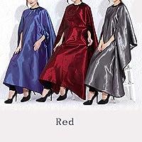 DANTB Vestido De Peluquería De Alto Grado Minimalista Peluquería A Prueba De Agua, Antiestático Teñido Salon Delantal para El Peinado 160 * 144 CM(Red)